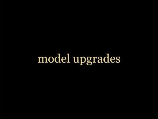 model upgrades